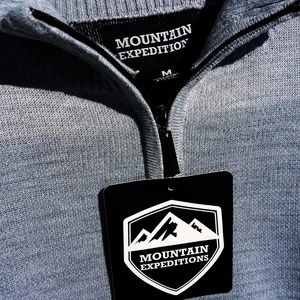 Mountain Expeditions Shirts - Mountain Expeditions Men's 1/4 zip Sz Medium